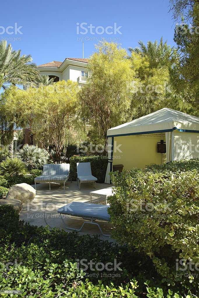 Herbst resort cabana Lizenzfreies stock-foto