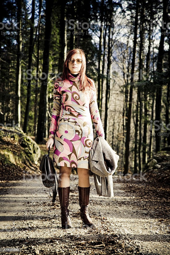 Autumn retro fashion style royalty-free stock photo