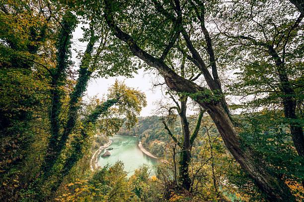 herbst river - burghausen stock-fotos und bilder