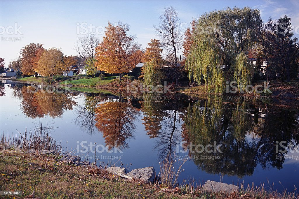 Autumn Riverbank royalty-free stock photo