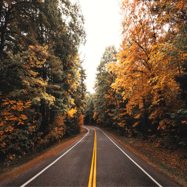 autumn road in new england autumn road in new england conway new hampshire stock pictures, royalty-free photos & images