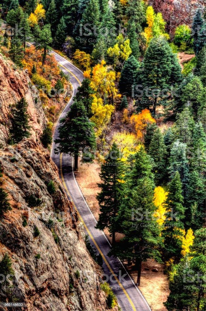 Autumn Road zbiór zdjęć royalty-free