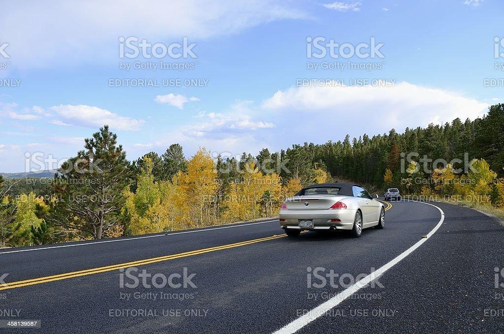 Autumn Road Trip, Colorado stock photo