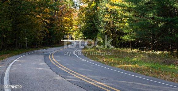 istock Autumn Road Trip, Michigan 1092794720
