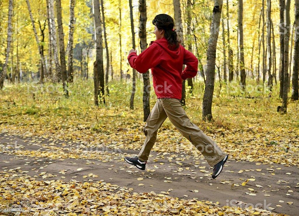 Autumn run royalty-free stock photo