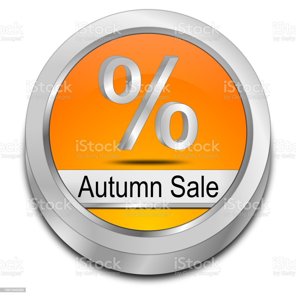 Herbst Sale Button - 3D-Illustration – Foto