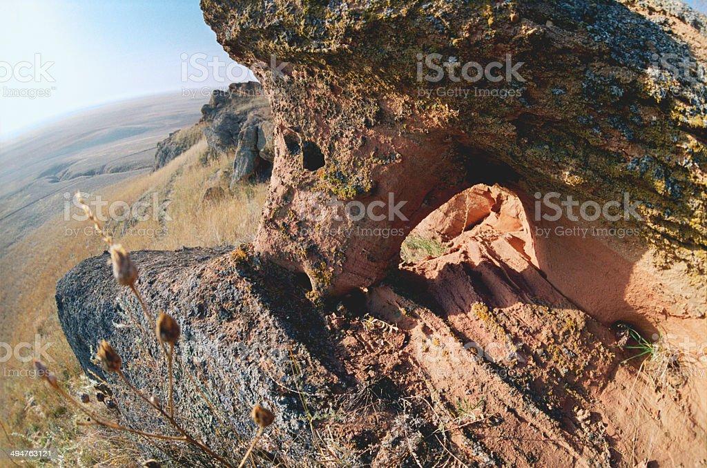 Autumn. Sandstone of Mountain Bogo. stock photo