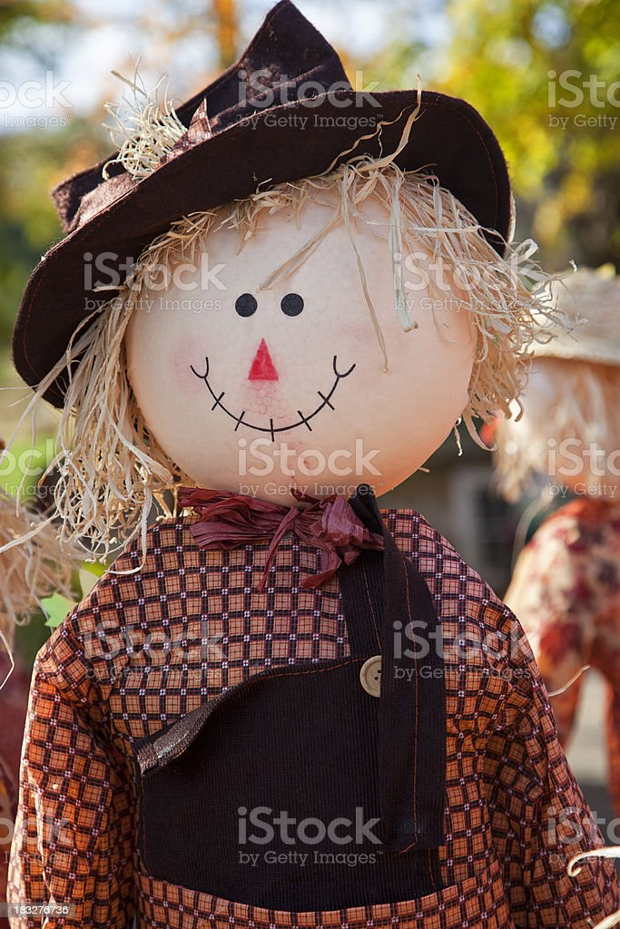 Autumn Scarecrow stock photo