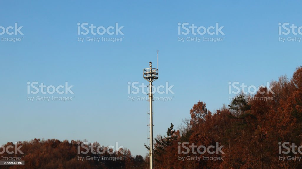 autumn scene and highway stock photo