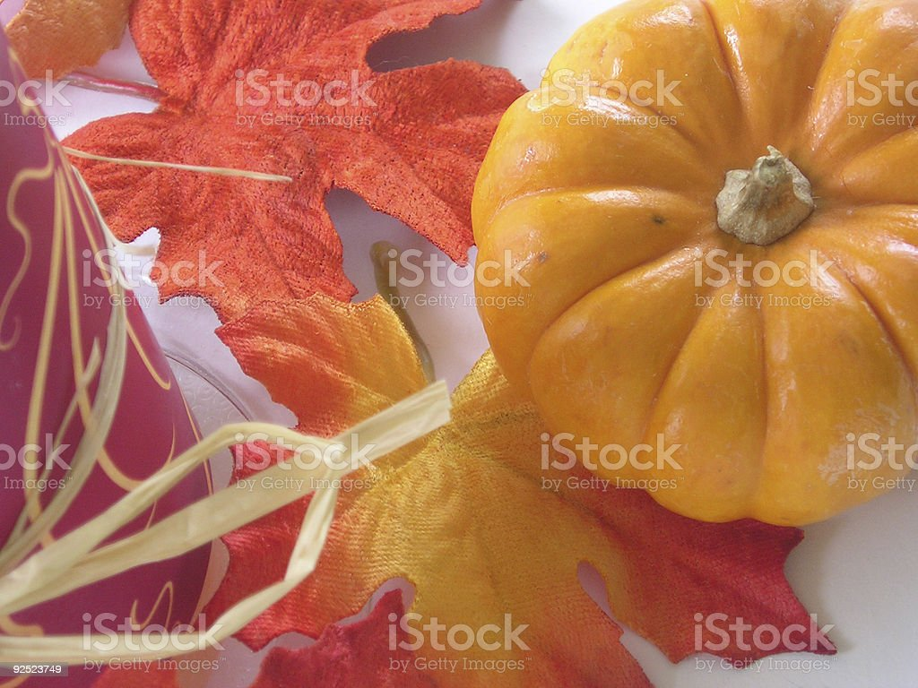 Autumn scene with pumpkin royalty-free stock photo