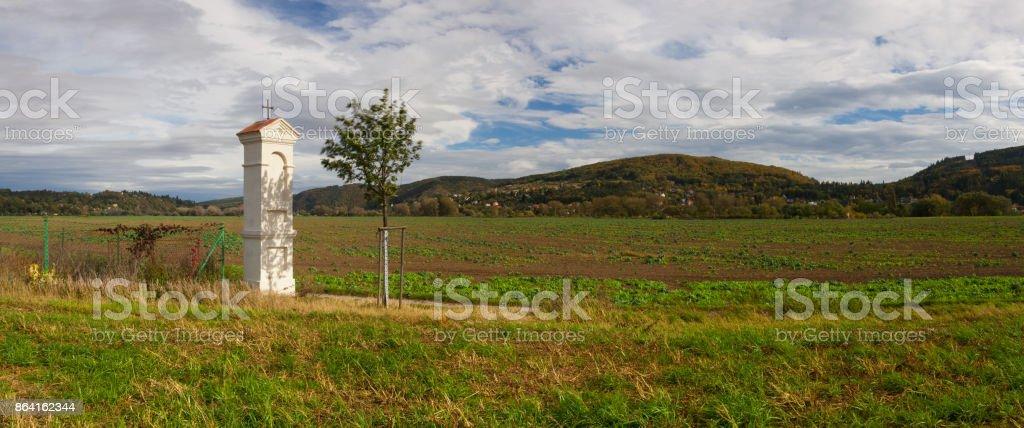 Autumn scenery in  Dobrichovice royalty-free stock photo