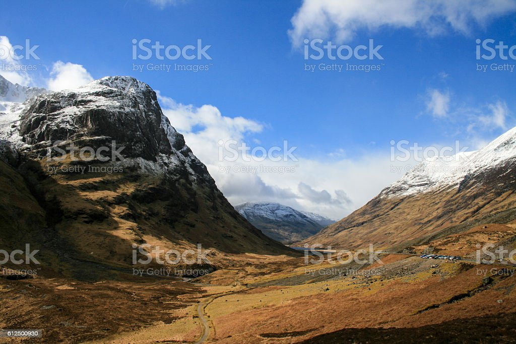 Autumn scenery in the Scotland Highlands stock photo