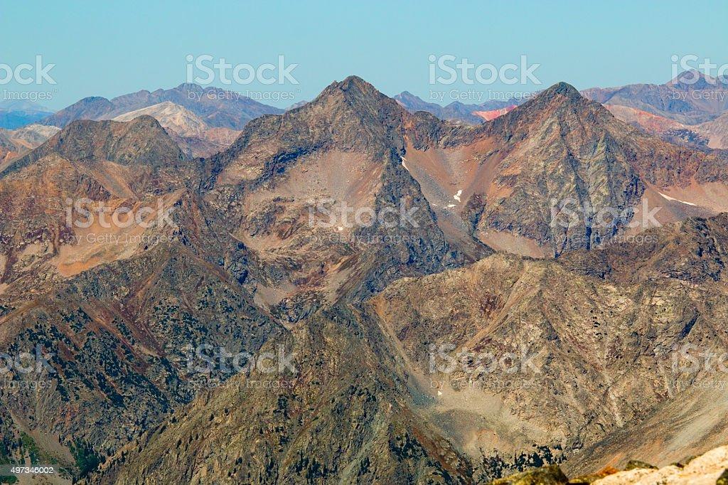 Autumn Scenery on Mount Yale Colorado stock photo
