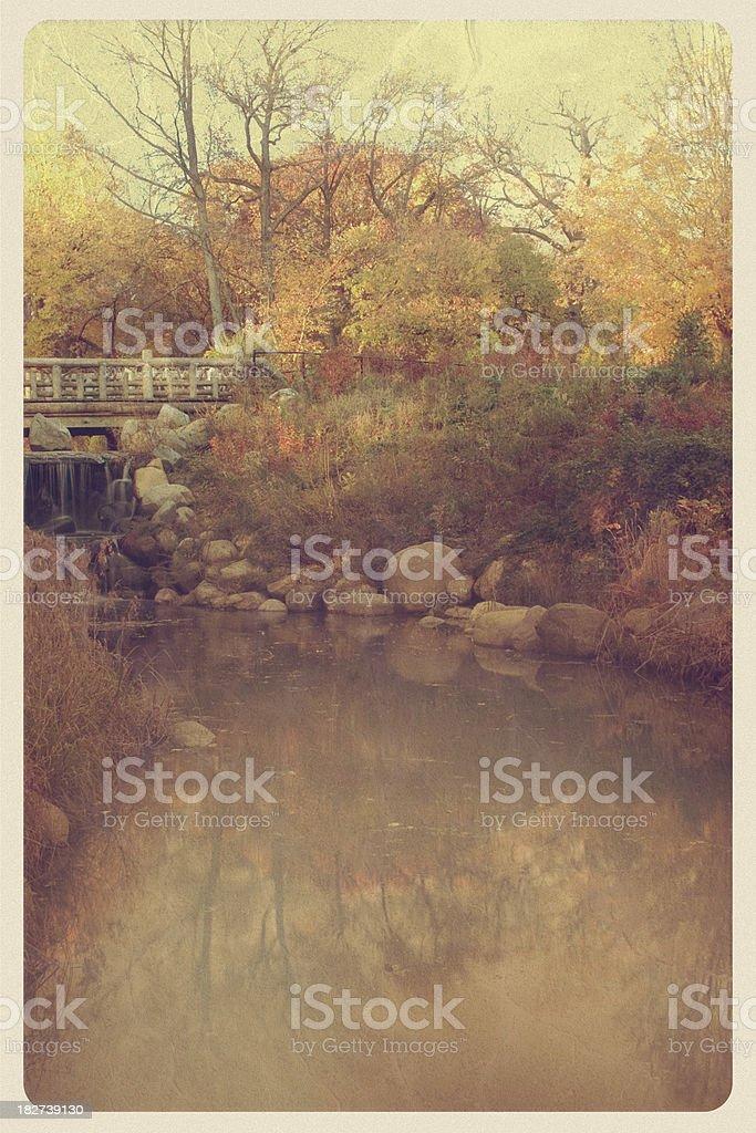 Autumn Scenic Postcard - Grunge royalty-free stock photo