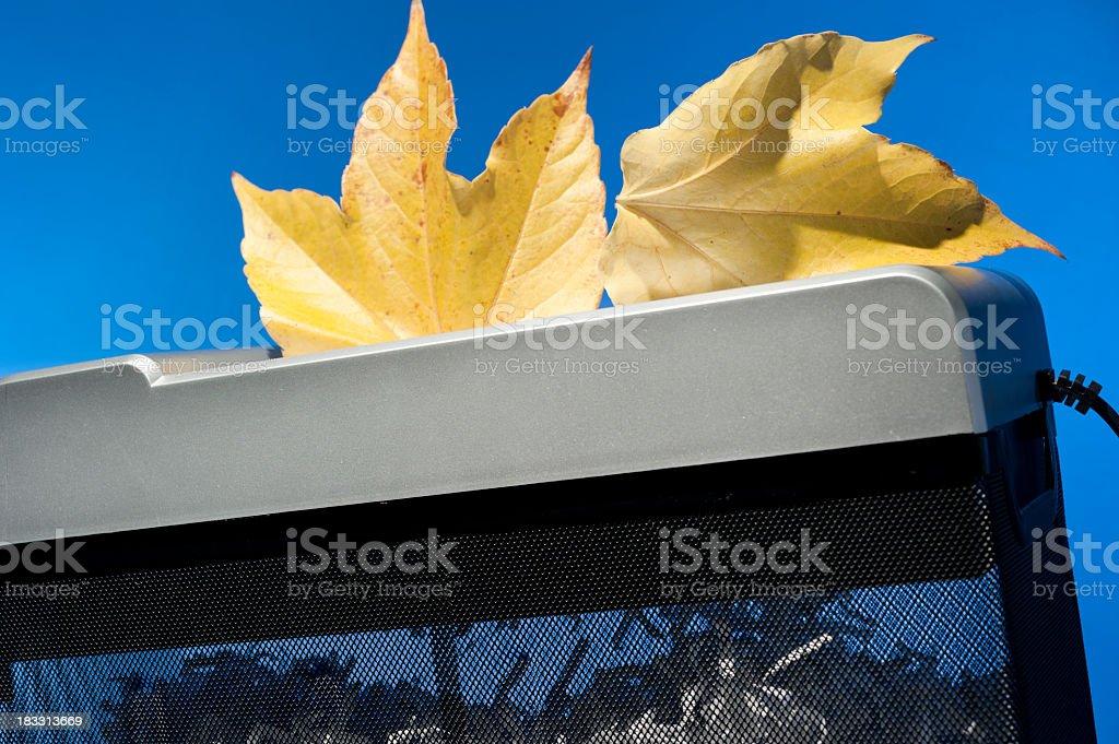 autumn shredder stock photo