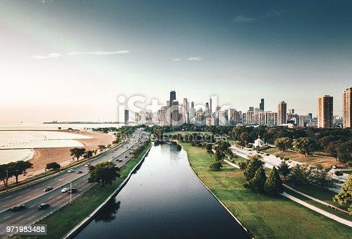 852738732istockphoto autumn skyline of chicago 971983488