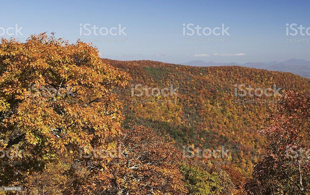 Autumn Smokey Mountain View royalty-free stock photo
