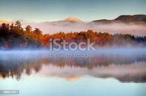 istock Autumn snowcapped White Mountains in New Hampshire 186544011
