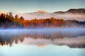 istock Autumn snowcapped White Mountains in New Hampshire 186544011