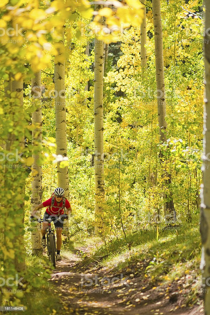 autumn sports and adventure stock photo