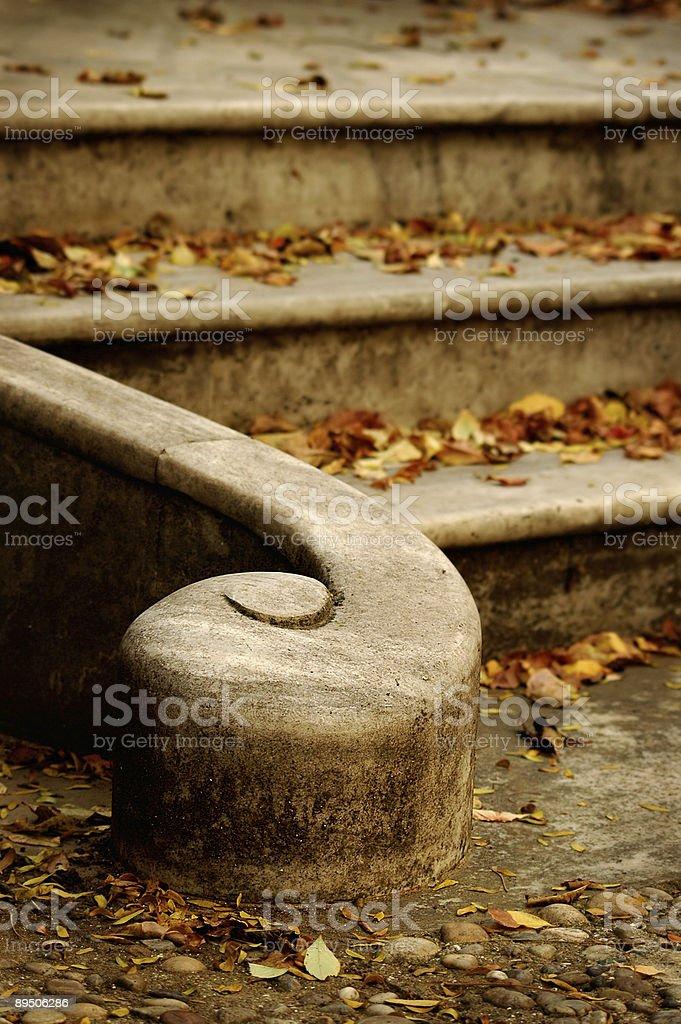 Autumn stairs royalty-free stock photo