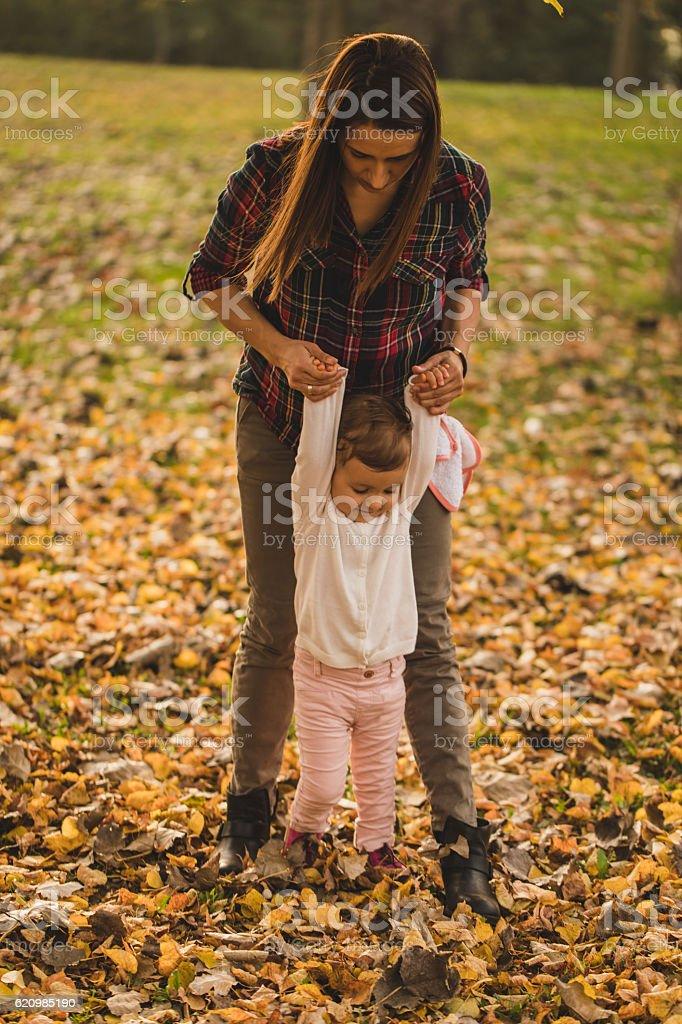 Outono passos foto royalty-free