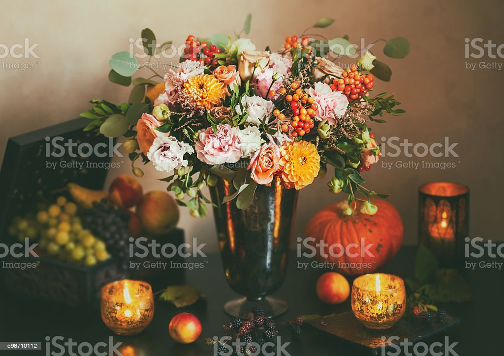 Autumn still life stock photo