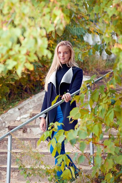 Autumn Story blonde stock photo