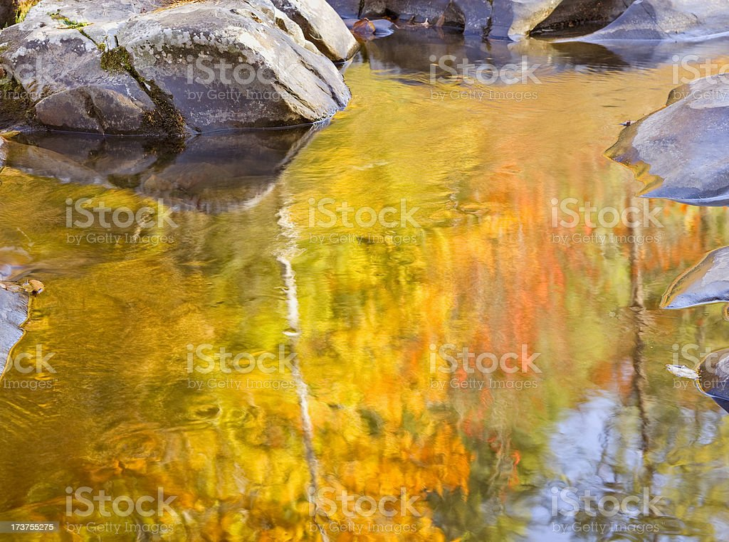 Autumn stream abstracts series royalty-free stock photo