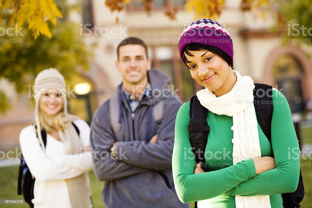 Autumn Students royalty-free stock photo