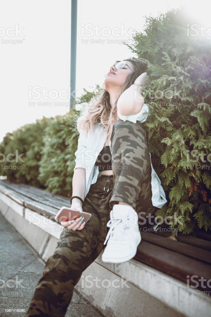 Autumn Sungazing stock photo
