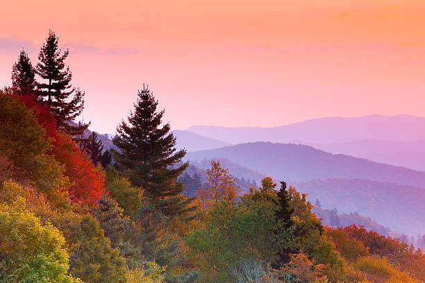 Autumn Sunrise  appalachia stock pictures, royalty-free photos & images