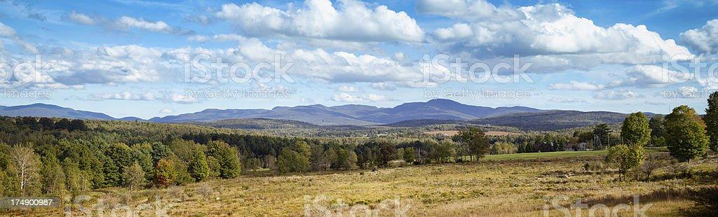 Autumn Sutton Appalachian Mountains Panorama royalty-free stock photo