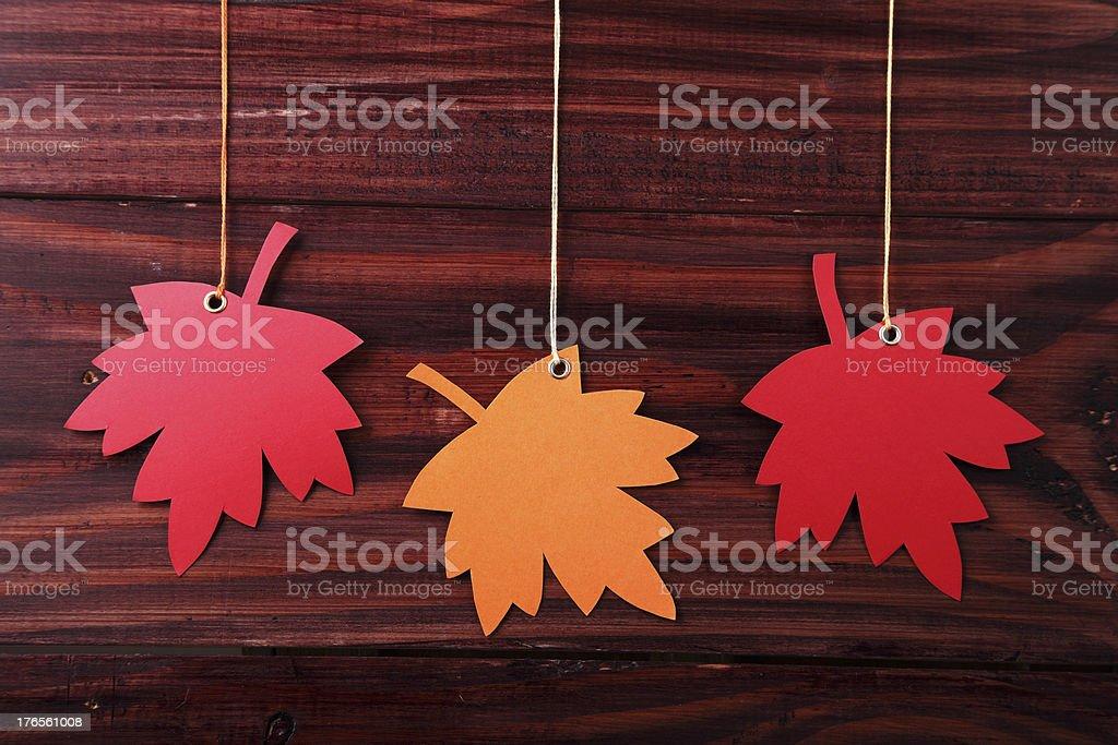 Autumn Tag royalty-free stock photo