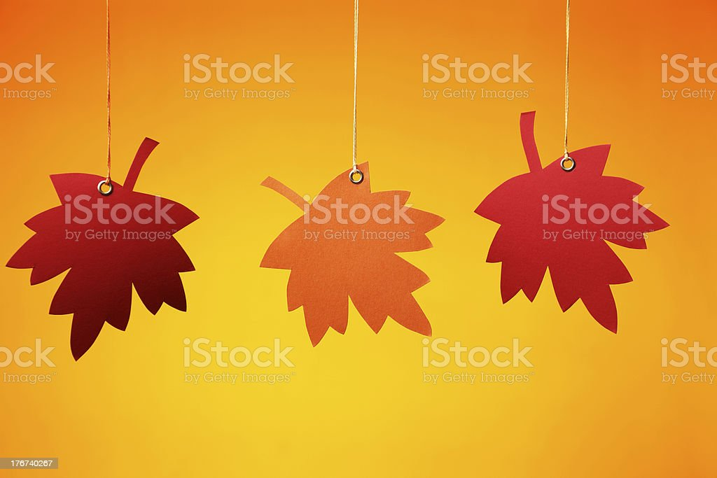 Autumn Tags royalty-free stock photo