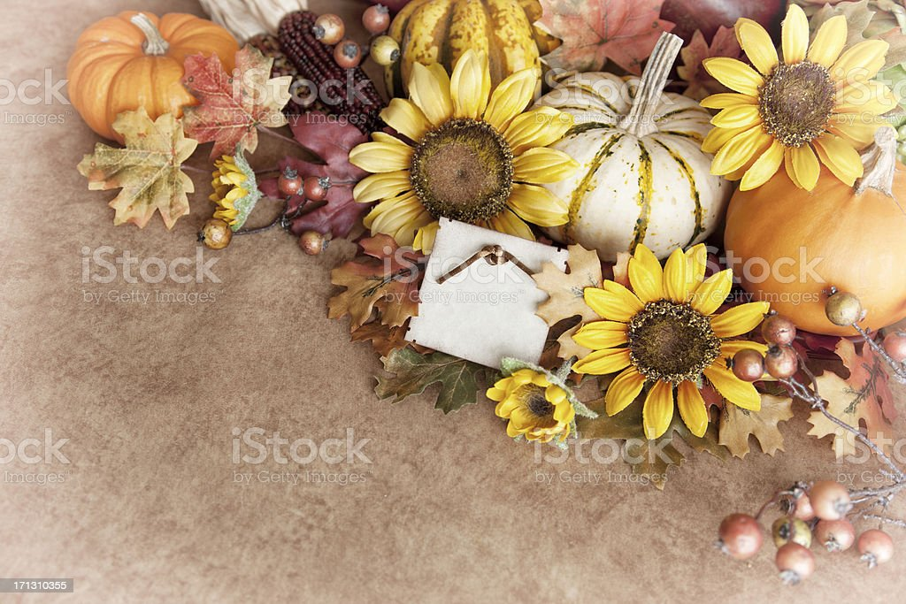 Autumn Thanksgiving Arrangement royalty-free stock photo