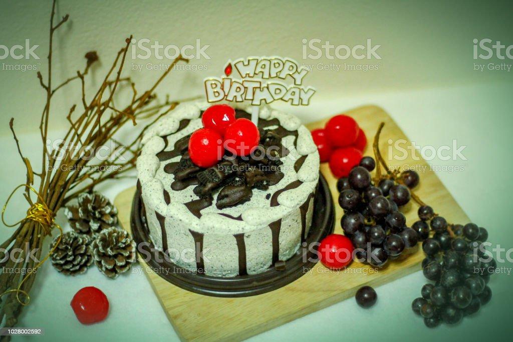 Admirable Autumn Theme Birthday Cake Stock Photo Download Image Now Istock Funny Birthday Cards Online Unhofree Goldxyz