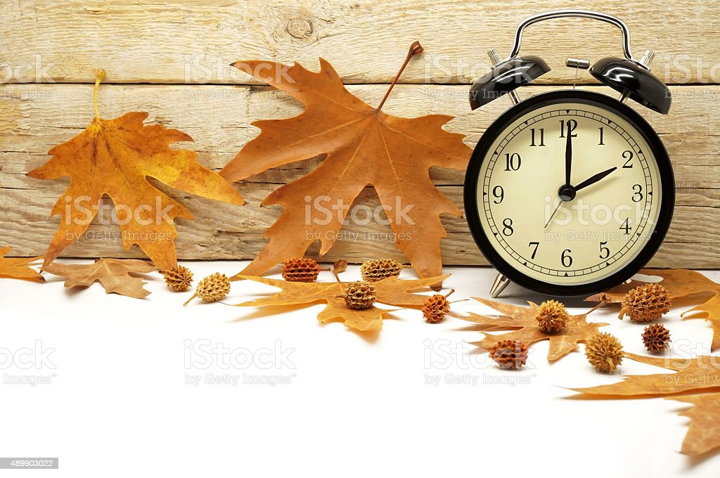 Autumn Time Change stock photo