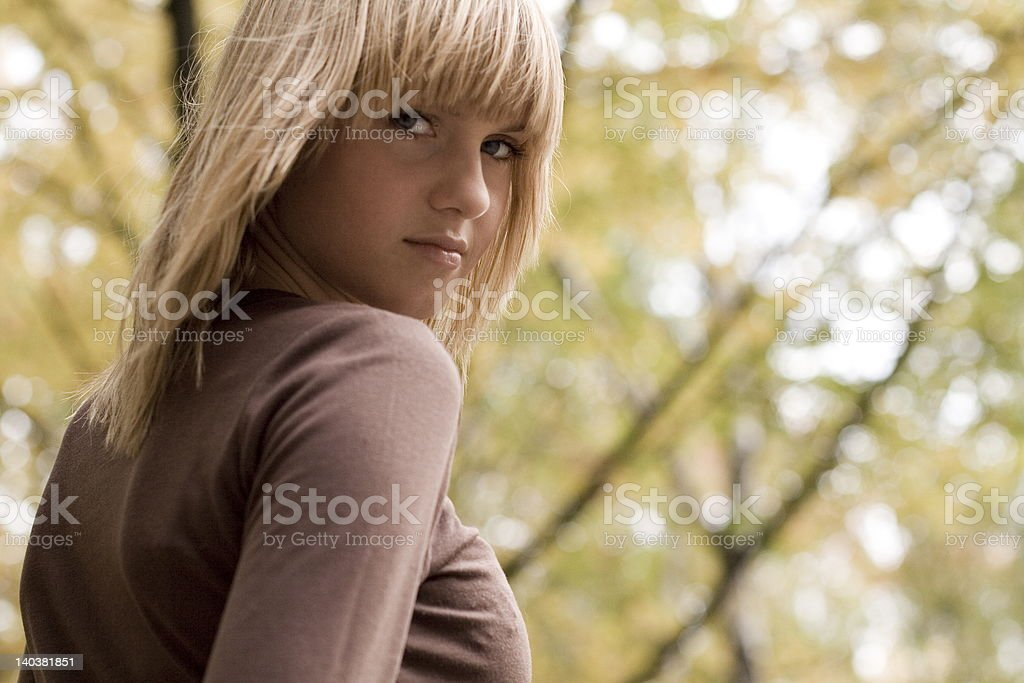 Autumn, time for troubles royalty-free stock photo