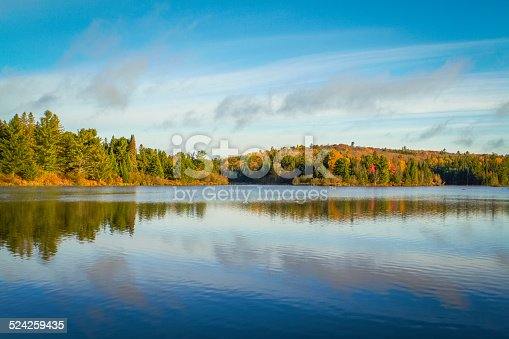 Autumn in Algonquin Park, Ontario, Canada. Tom Thomson Lake.