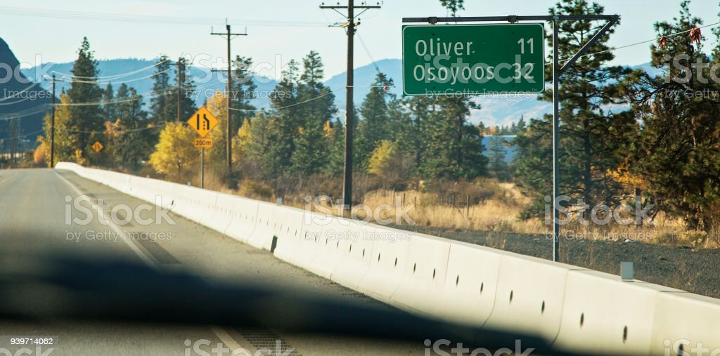 Autumn Trip to Osoyoos stock photo