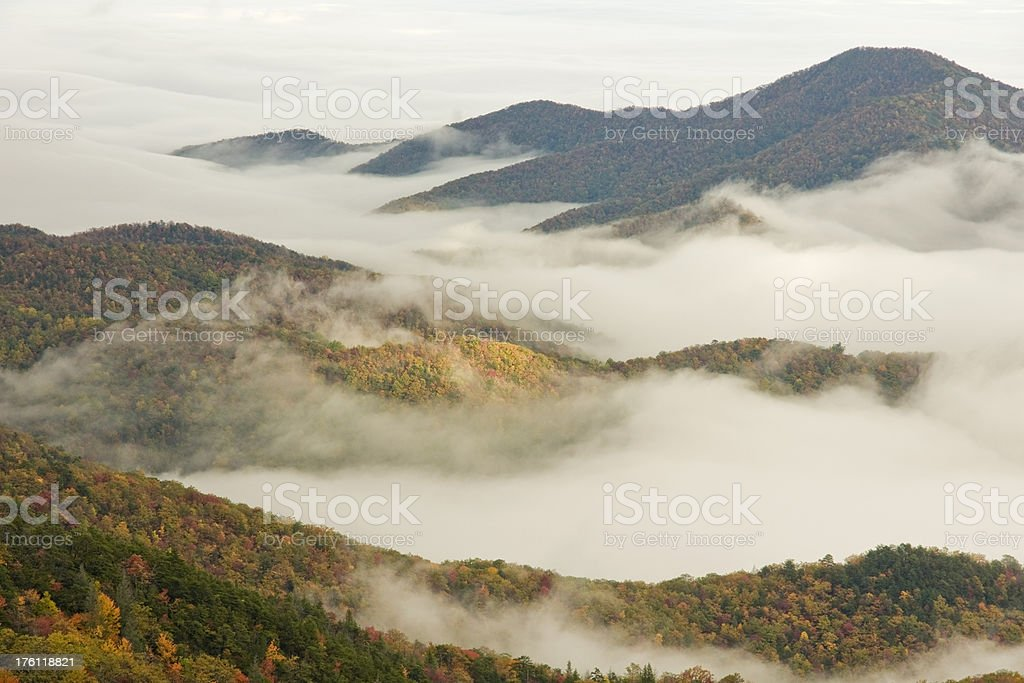 Autumn Valley Clouds royalty-free stock photo