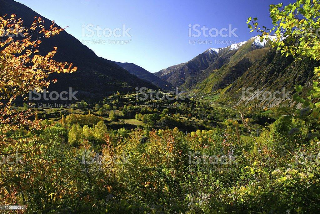 Autumn valley royalty-free stock photo