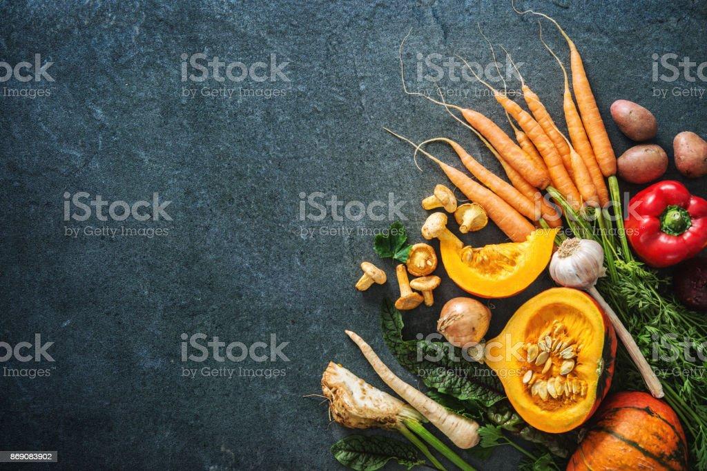 Herbst Gemüse Zutaten für leckere Gerichte für Weihnachten oder Thanksgining – Foto