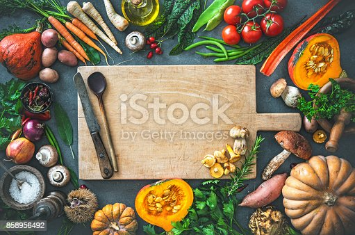 istock Autumn vegetables ingredients for tasty Thanksgiving or Christmas dishes 858956492