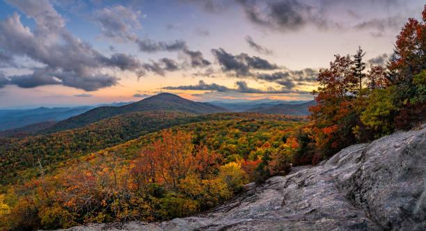 Autumn view, Blue Rige Mountains stock photo