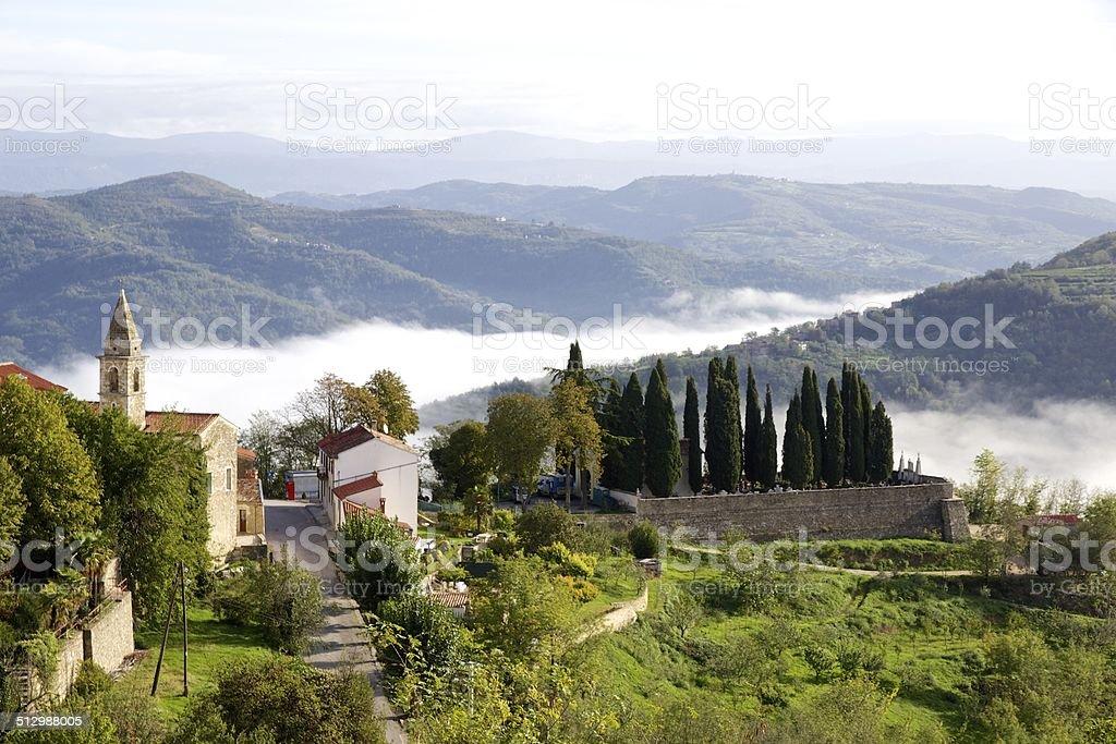 Autumn view from Motovun, Croatia stok fotoğrafı