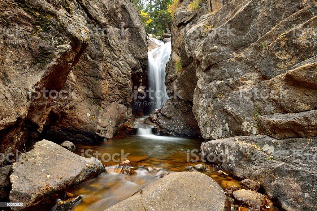 Autumn View of Chasm Falls - Horizontal stock photo