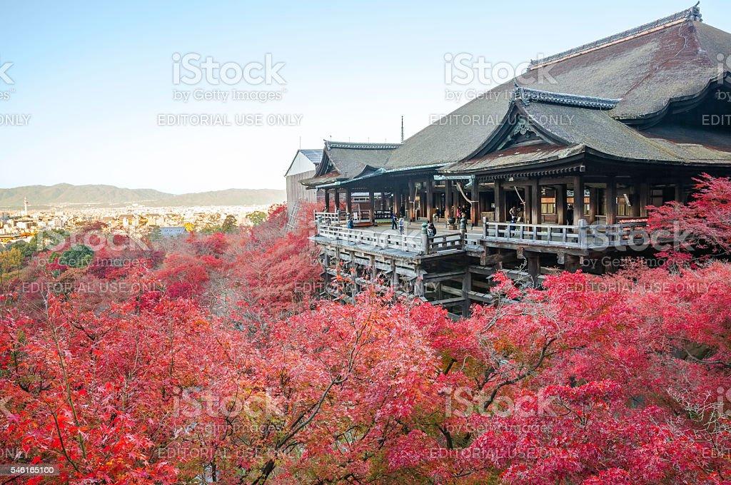 Autumn view of Kiyomizu-dera Temple stock photo