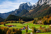 Autumn in Berchtesgaden national park, Germany.